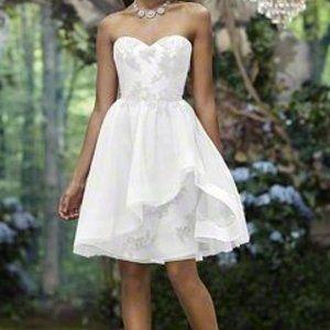 Short Lace Destination Wedding Dress Reception